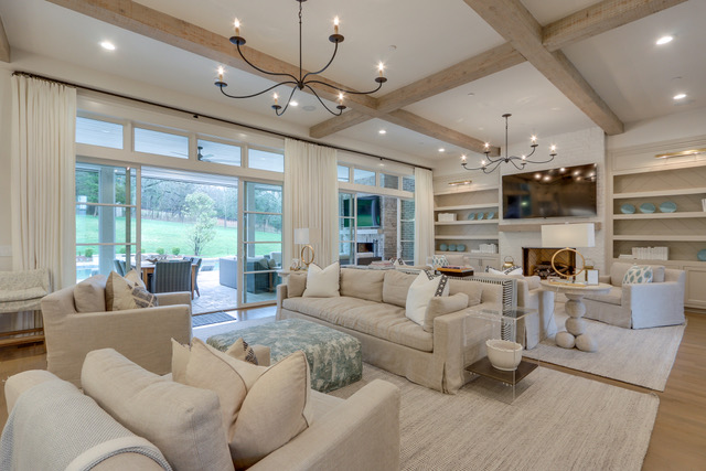 nashville home builder custom built this living area in a beautiful new custom home in thompson station tn near franklin and brentwood