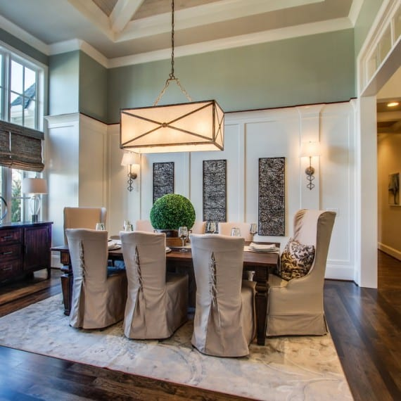 Kings Chapel dining view, home builder Arrington, TN, Thompson Station, custom homes, new construction, new homes Franklin, Brentwood, TN.