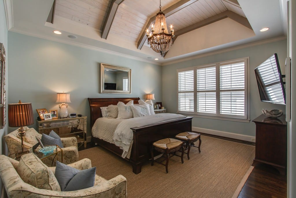 Bedroom design, custom homes, Franklin, TN, Brentwood home builder, new construction, new homes, fine home builder Arrington, Thompson Station - Tennessee Valley Homes