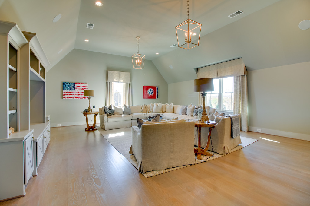 Open living in new homes in Brentwood, TN, Franklin and Arrington, new construction custom homes and custom home design.