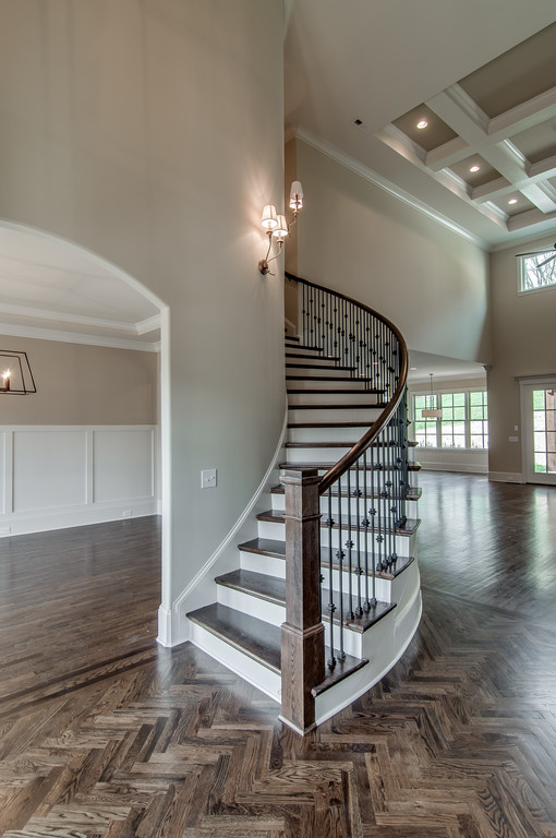 Home staircase, new construction Brentwood, TN, Franklin and Thompson Station, new homes home builder custom homes and custom home design.