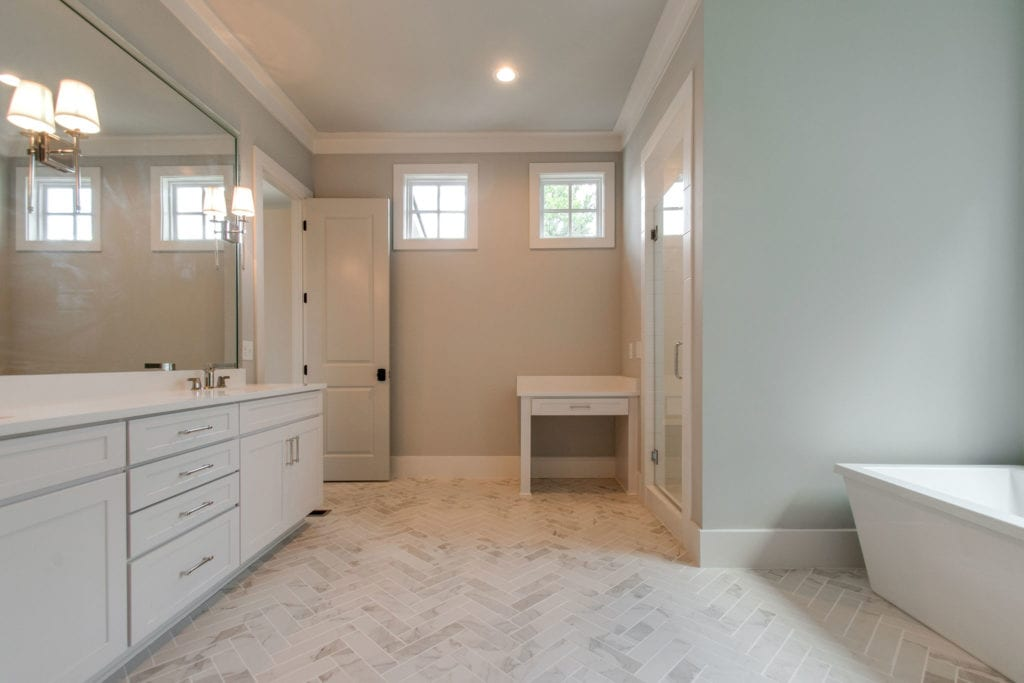 New Home with large bathroom in Franklin, Brentwood, and Thompson Station TN with Custom Home Design