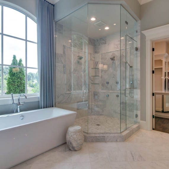 Bath and shower, new homes Brentwood, TN, Franklin and Thompson Station, home builder new construction and custom homes Arrington, TN.