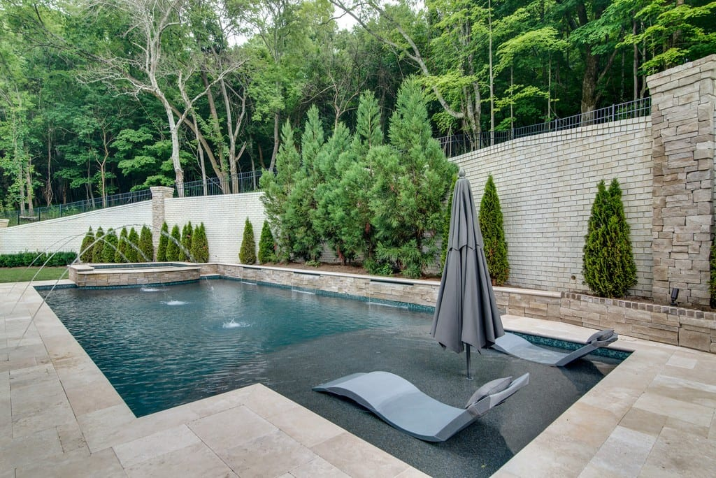 Home pool, new homes Brentwood, TN and Franklin, home builder new construction, custom homes and custom home design.